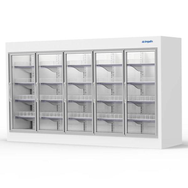 Armario y cámara modular puertas de cristal AMPC