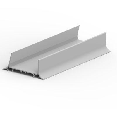 Perfi l U PVC cámara sin suelo. Esp. 80/100 (1 m.)